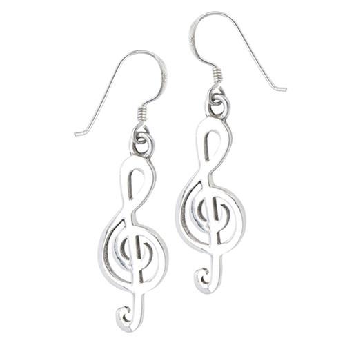 Sterling Clef Note Earrings 4242