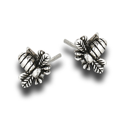 Sterling Bumble Bee Stud Earrings 1676