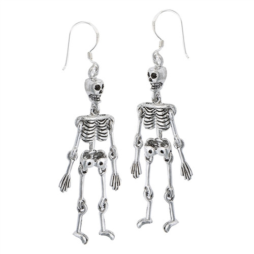 Sterling Skeleton Earrings 4419