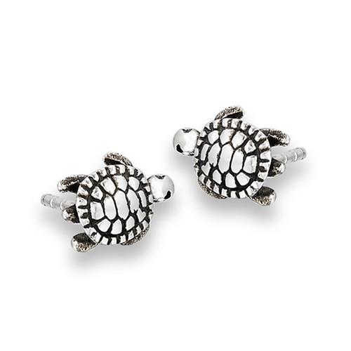 Sterling Silver Turtle Stud Earrings 1662