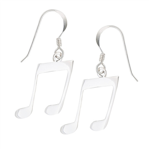 Sterling Musical Note Earrings 9453