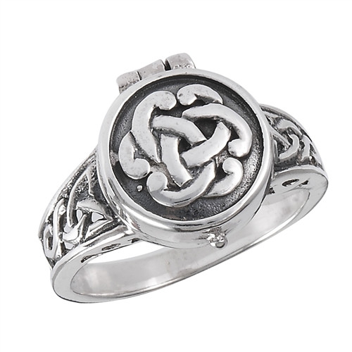 Sterling Celtic Poison Ring