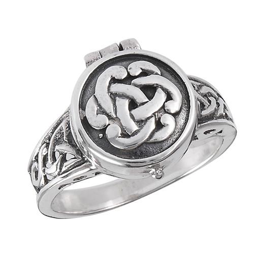 Sterling Celtic Poison Ring