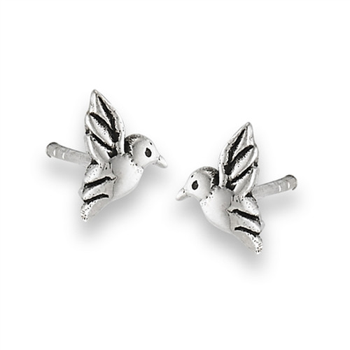 Sterling Hummingbird Stud Earrings 1663