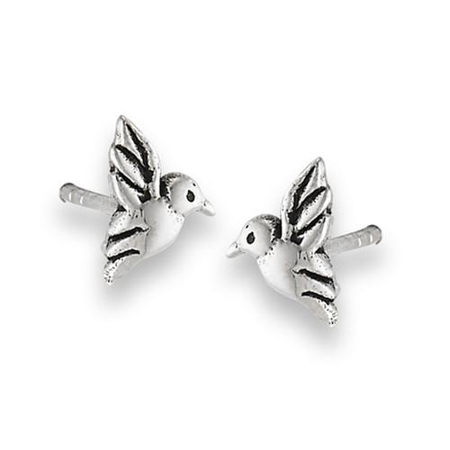 Sterling Hummingbird Stud Earrings 1663
