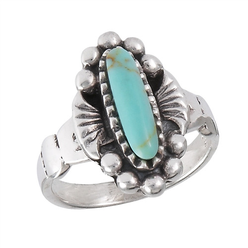 Sterling Ring w/Synthetic Turquoise 2031