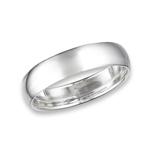 Sterling 6mm Classic High Polish Wedding Band 2982