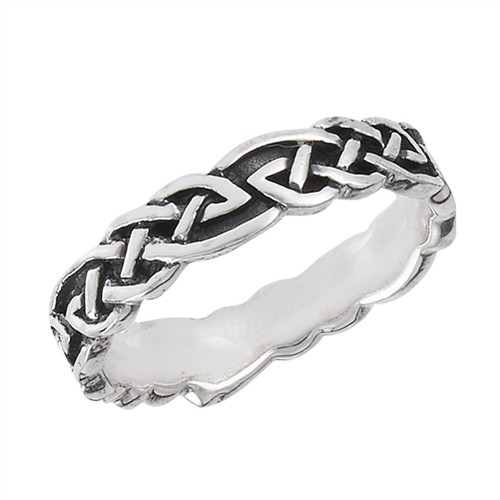 sterling Celtic Weave Ring 3089