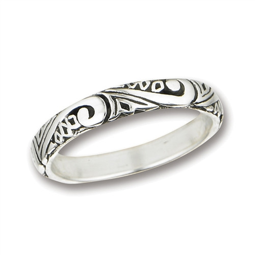Sterling Swirl Band Ring 2783
