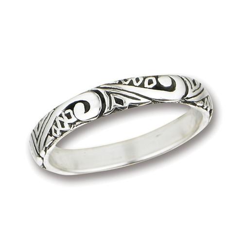 Sterling Swirl Band Ring 2783