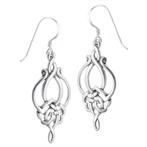 Sterling Weave Dangle Celtic Earring 4176