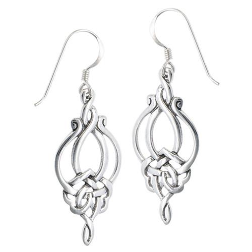 Sterling Weave Dangle Celtic Earring 4176