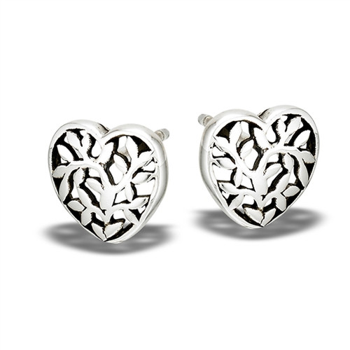 Sterling Tree Of Life Stud Earrings 1701