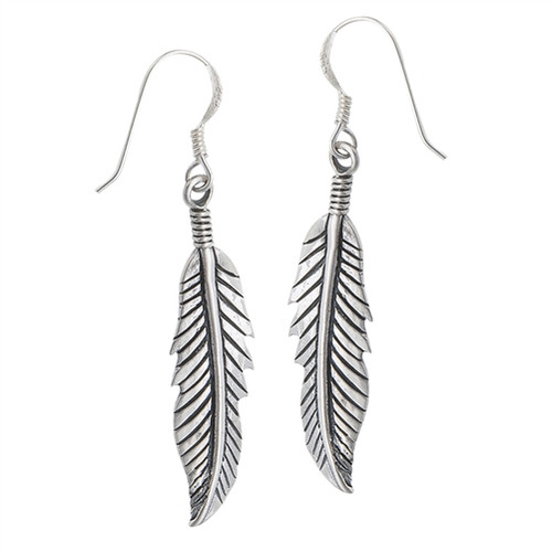 Sterling Feather Earrings 4251