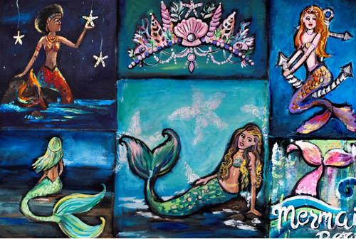 Mermaid Beach Decoupage Paper