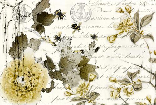Sepia Blossom Decoupage Paper