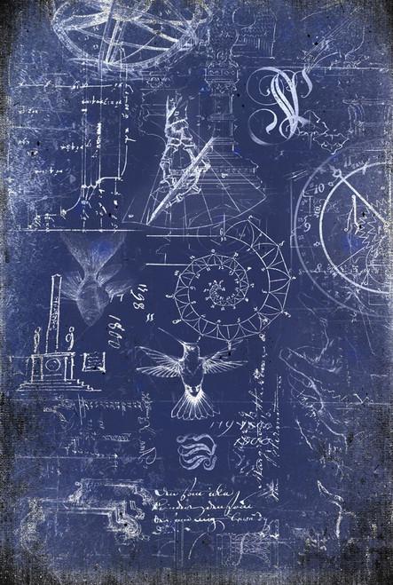 Renaissance Blueprint Decoupage Paper