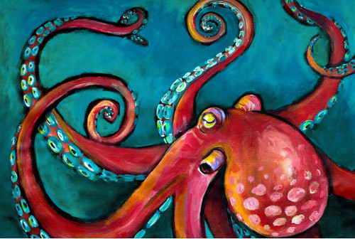 Octopus Decoupage Paper