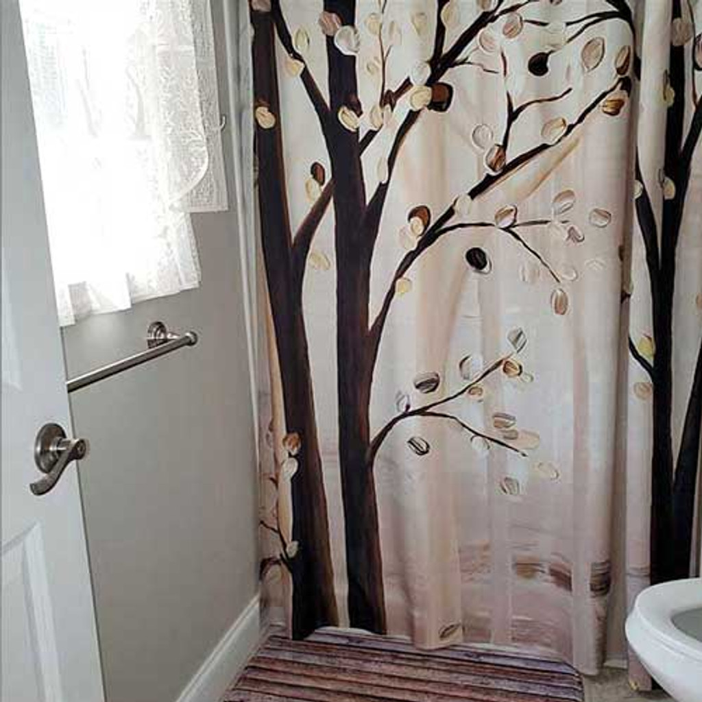 trees art shower curtain