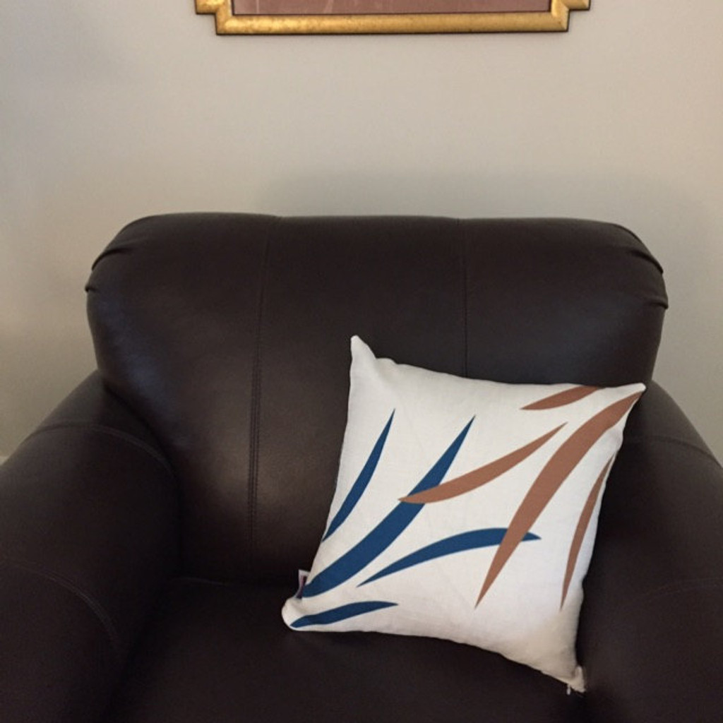 Throw Pillow Covers, Decorative Pillow Cases, Blue Gray Brown