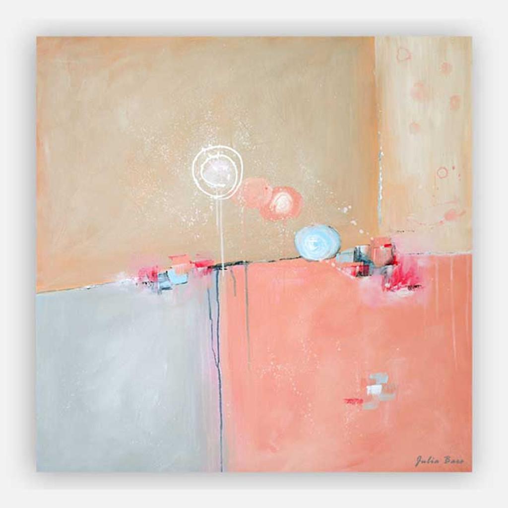pink and blue modern wall art by Julia Bars