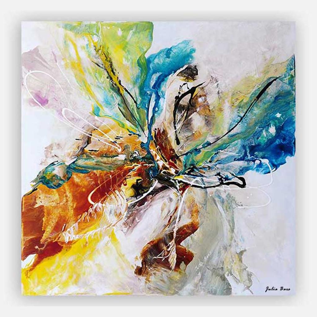 abstract art print on canvas, fluid acrylic painting by Julia Bars