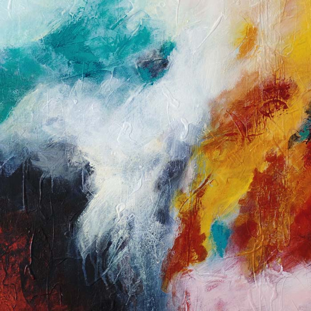close up of original abstract painting