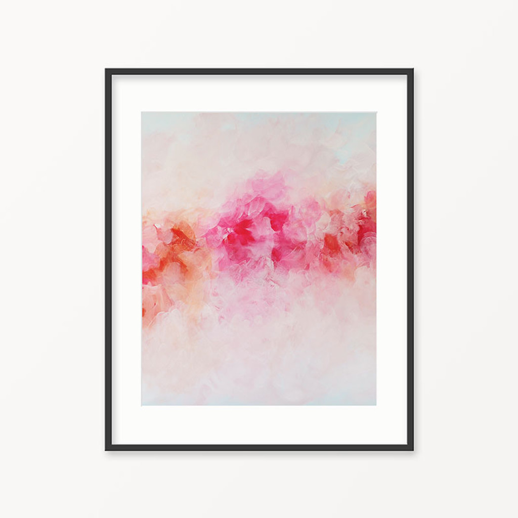 Printable wall art pink flowers