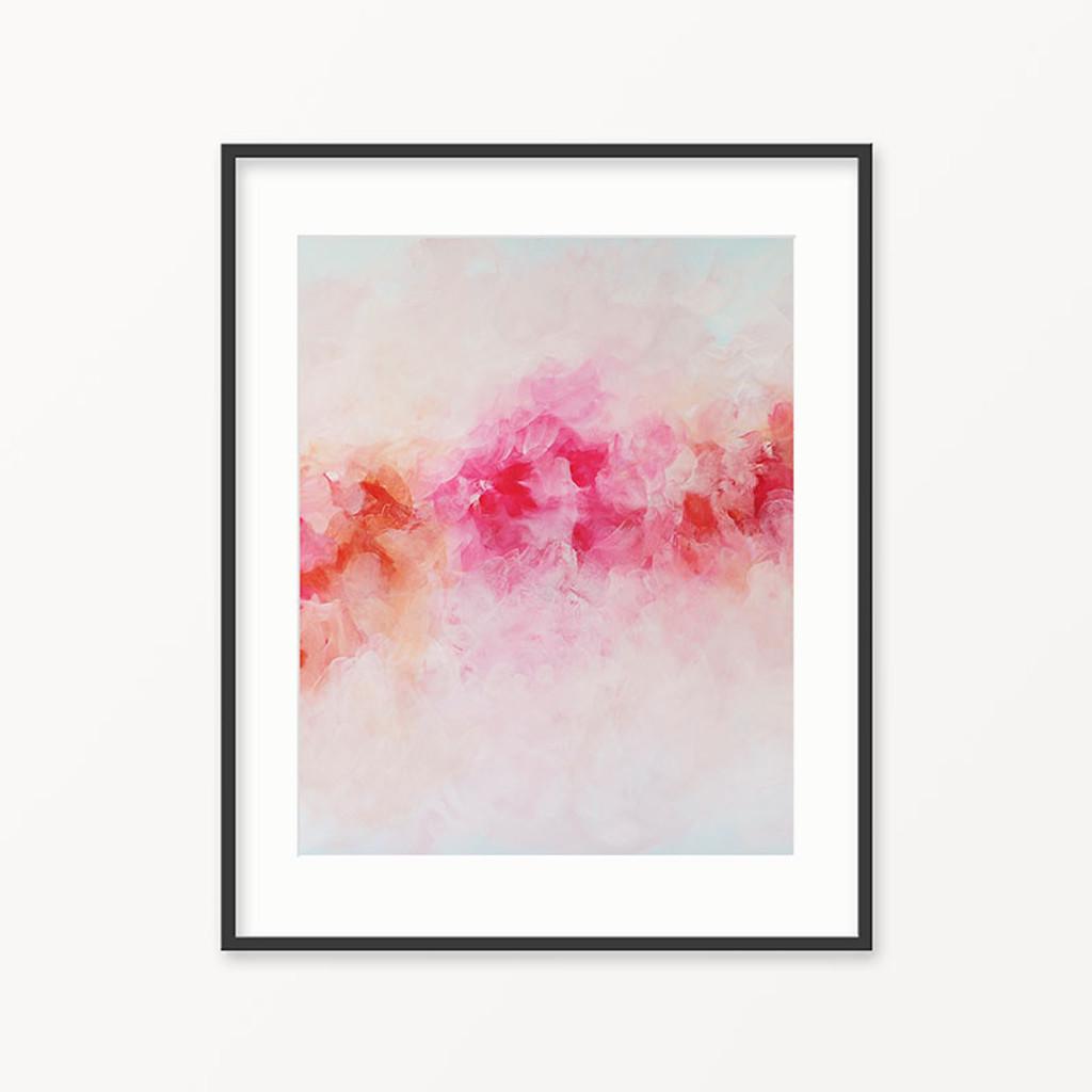 Printable wall art pink flowers