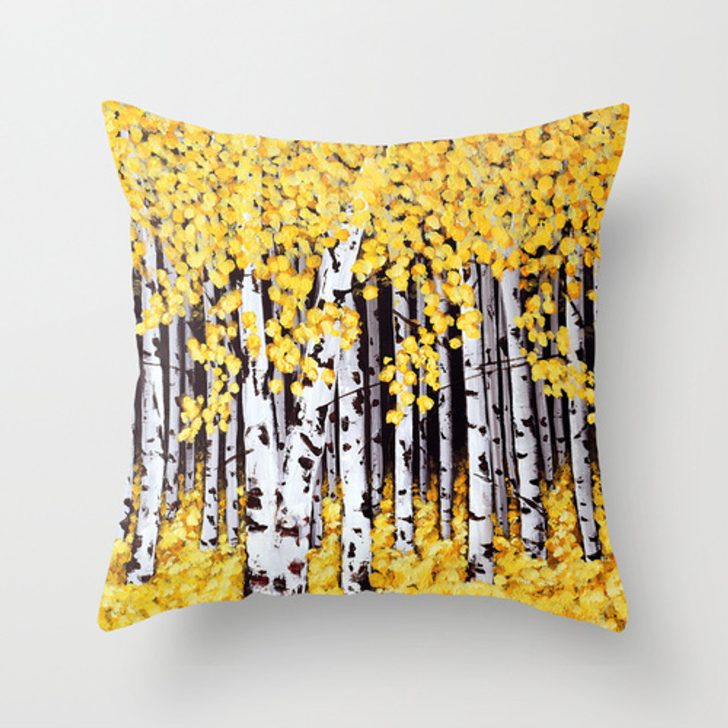 birch trees cushions