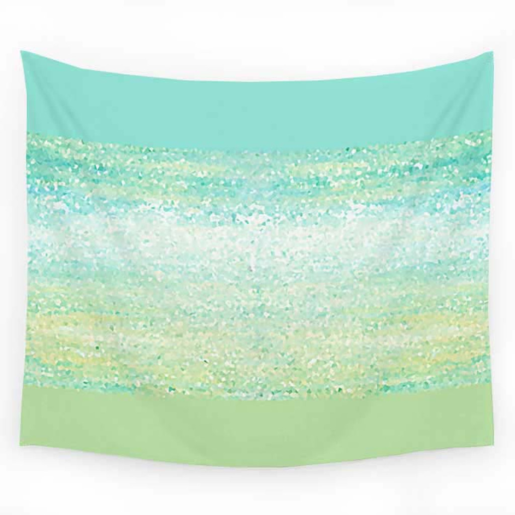 Sea foam and mint green tapestry