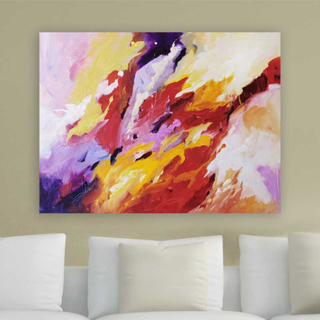 colorful abstract art print on the wall, Julia Bars art