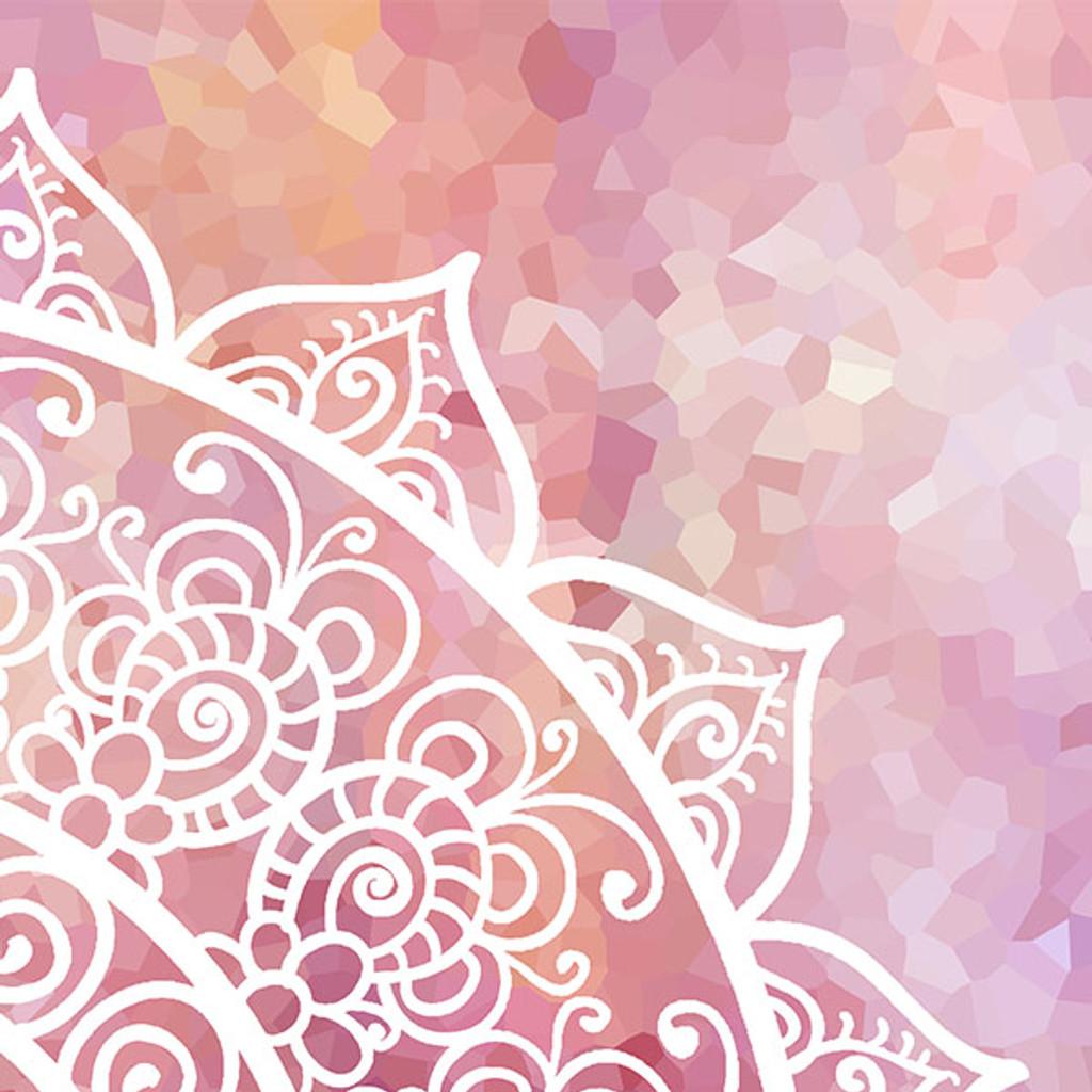 Pink and White Mandala Duvet Cover, Boho Bedding for Girls Bedroom