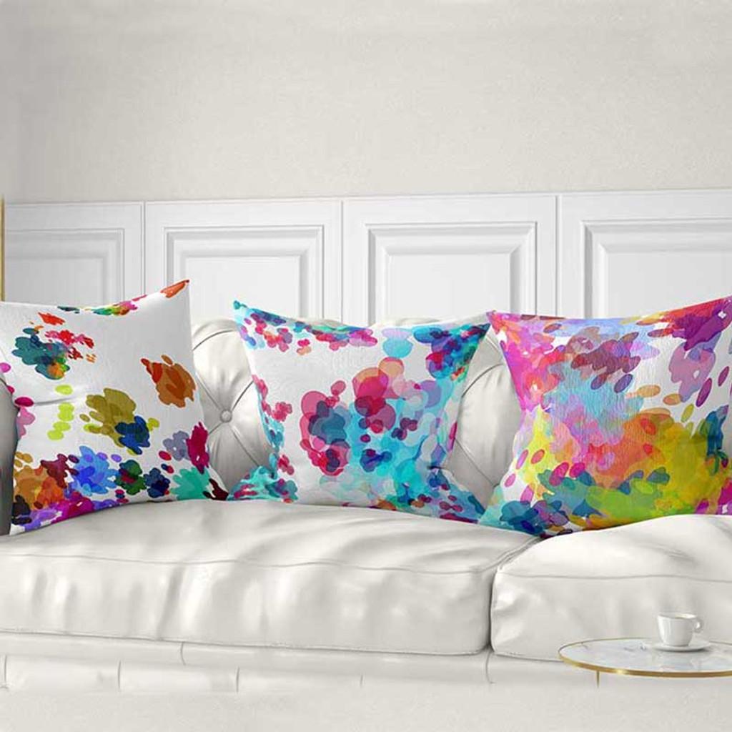 watercolor art pillow covers by Julia Bars