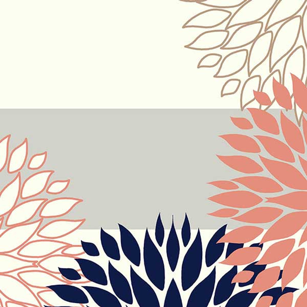 close up fragment of floral shower curtain design