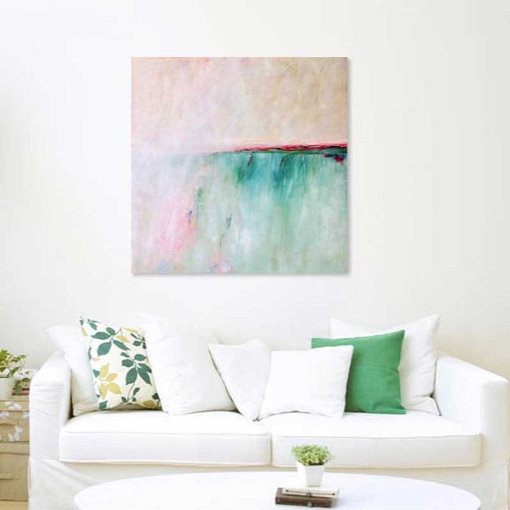 Abstract seascape painting, sea art by Julia Bars