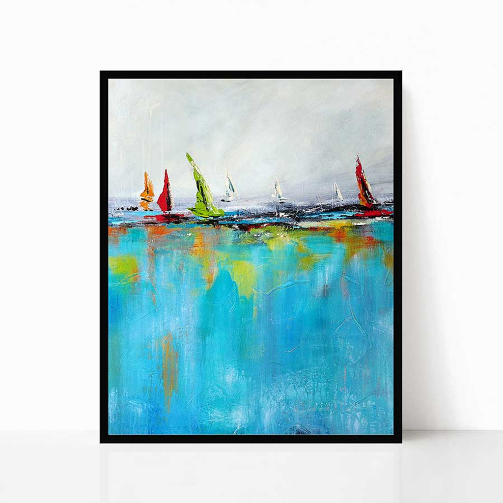abstract seascape print by Julia Bars