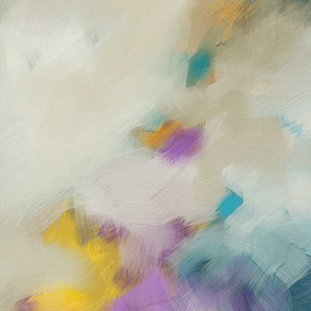 close up image of colorful original painting