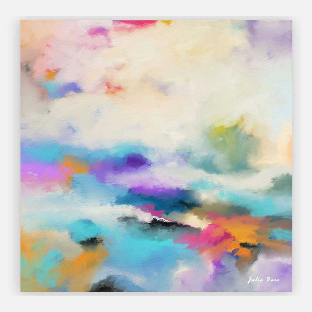 large wall art, abstract wall decor, colorful painting