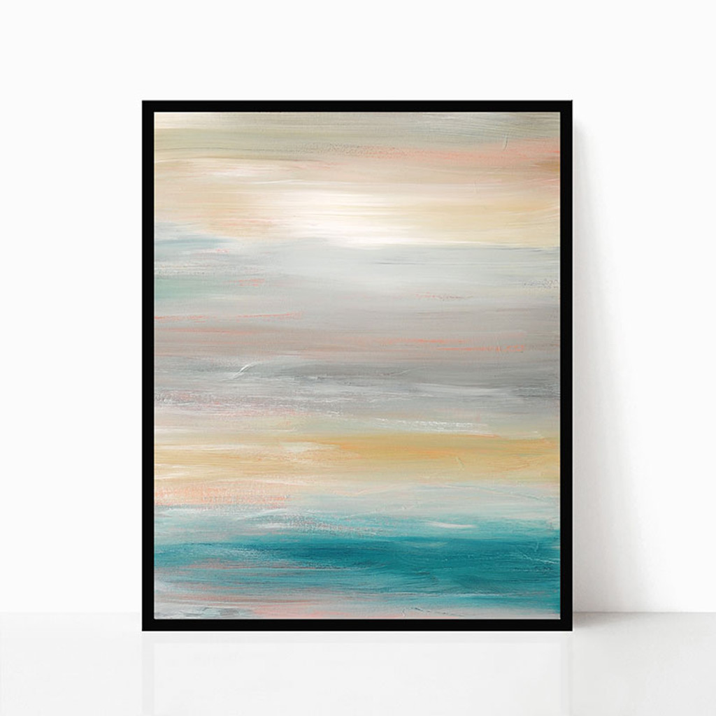 Set of 2 Prints, Printable Wall Art, Abstract Seascape Painting