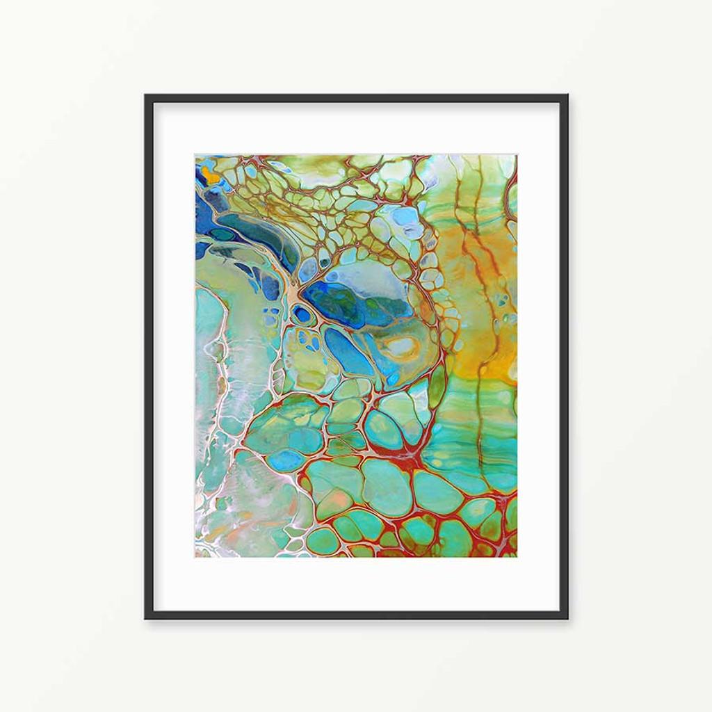 abstract coastal painting, water painting, printable wall art