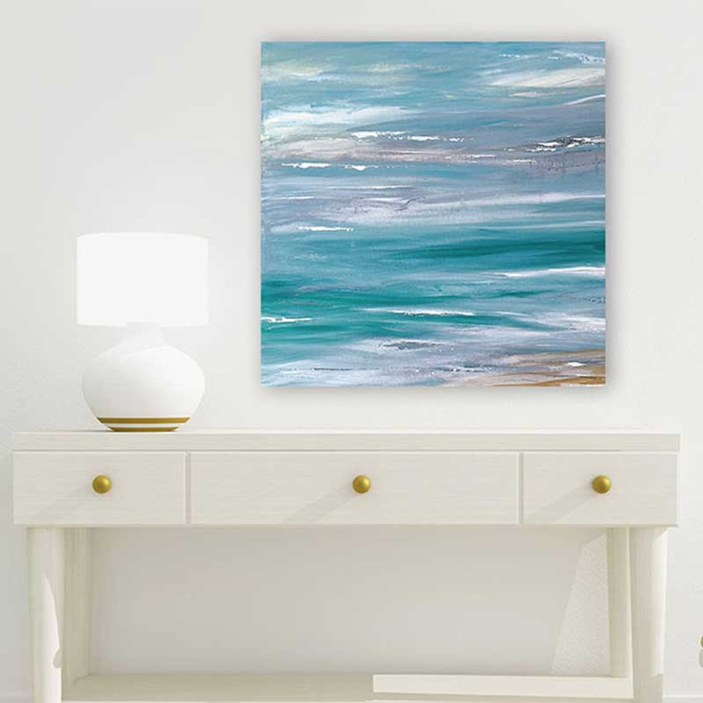 large abstract painting, coastal art on the wall
