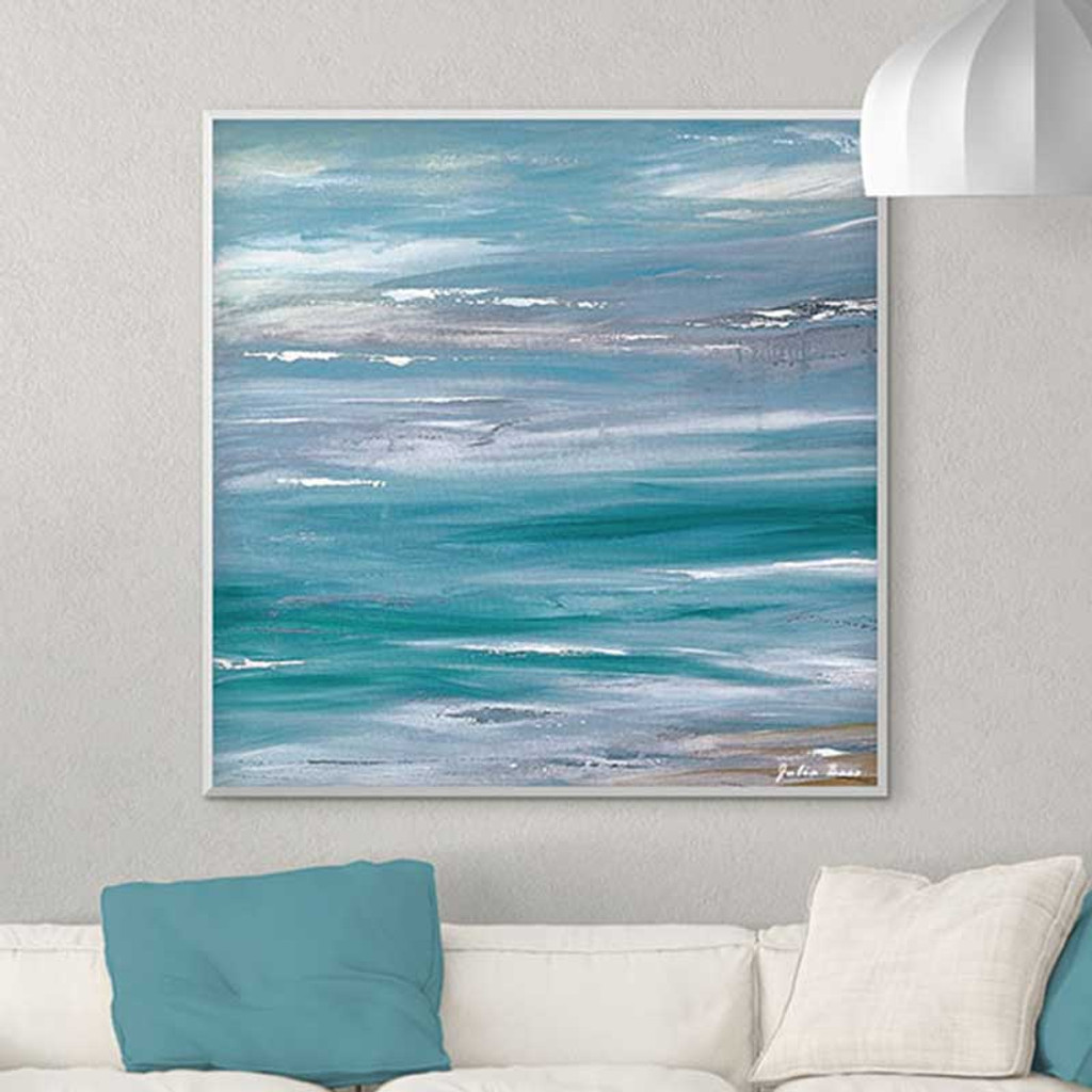 abstract seascape painting, giclee print by Julia Bars