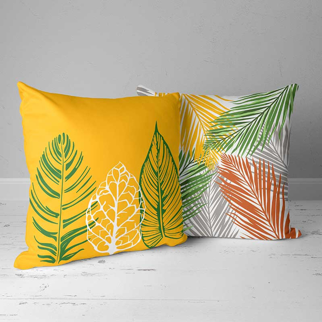 yellow and green pillows for patio and outdoor