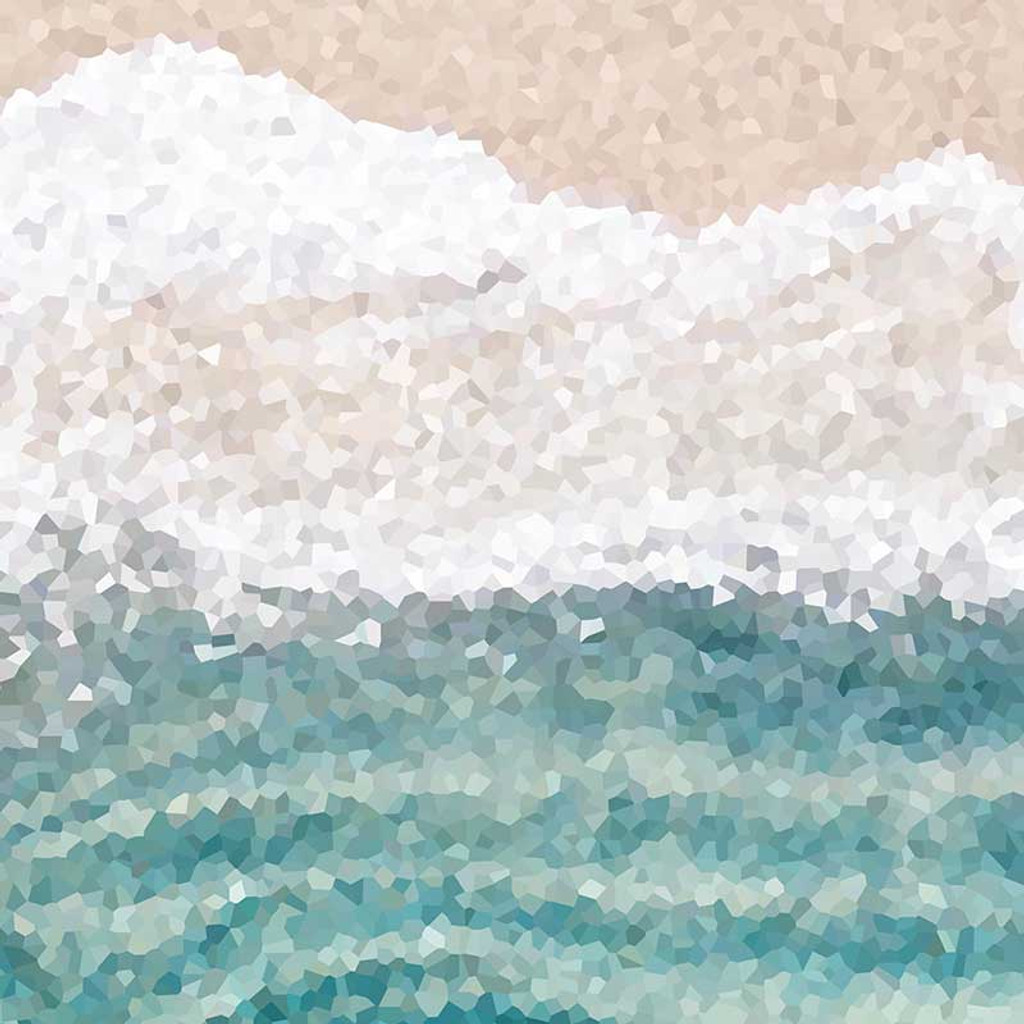 Ocean Wave Shower Curtain, Bath Mat, Abstract Coastal Decor, Teal, White, Sand