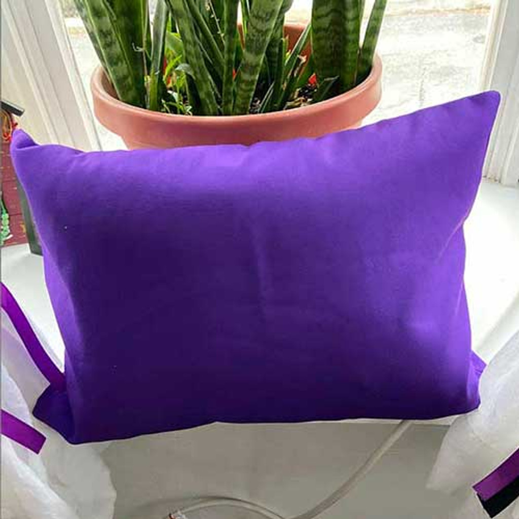 solid color purple pillow