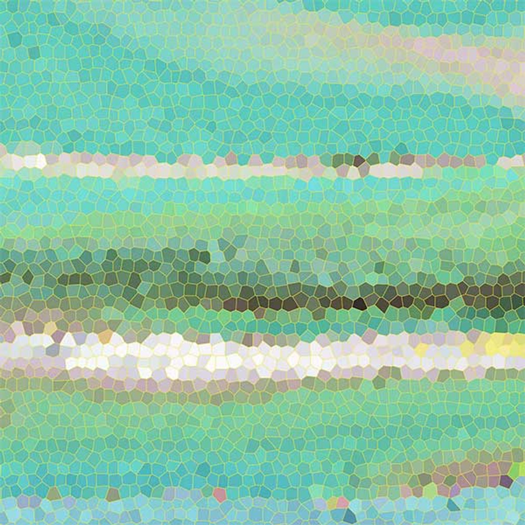 abstract shower curtain design close up
