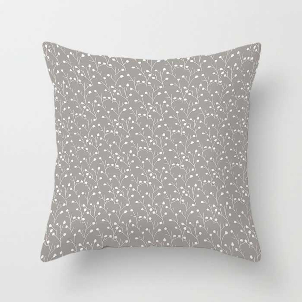 Gray Black and White Decorative Throw Pillow Covers with Geometric Patterns
