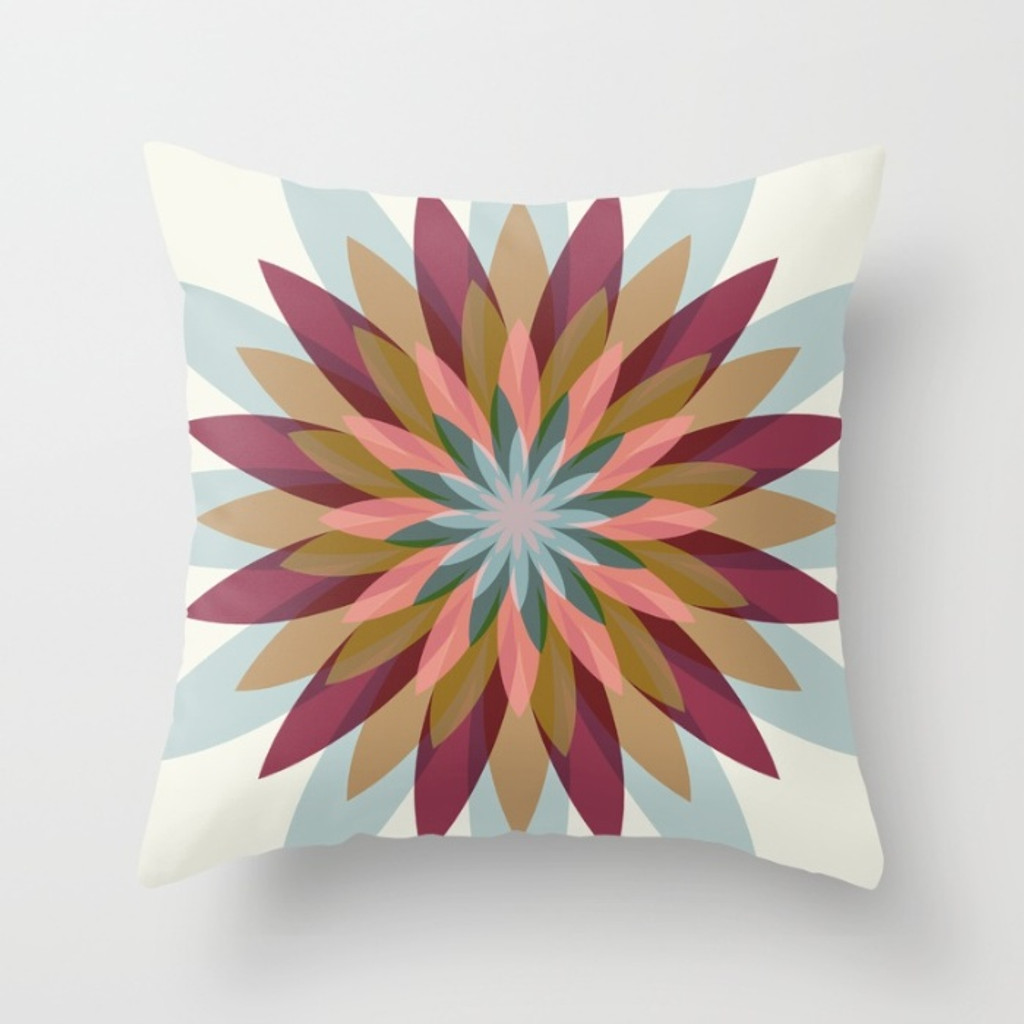 Floral Pillow Covers, Throw Pillows with Unique Patterns, Blue Pink Gray