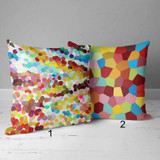 colorful mosaic throw pillows